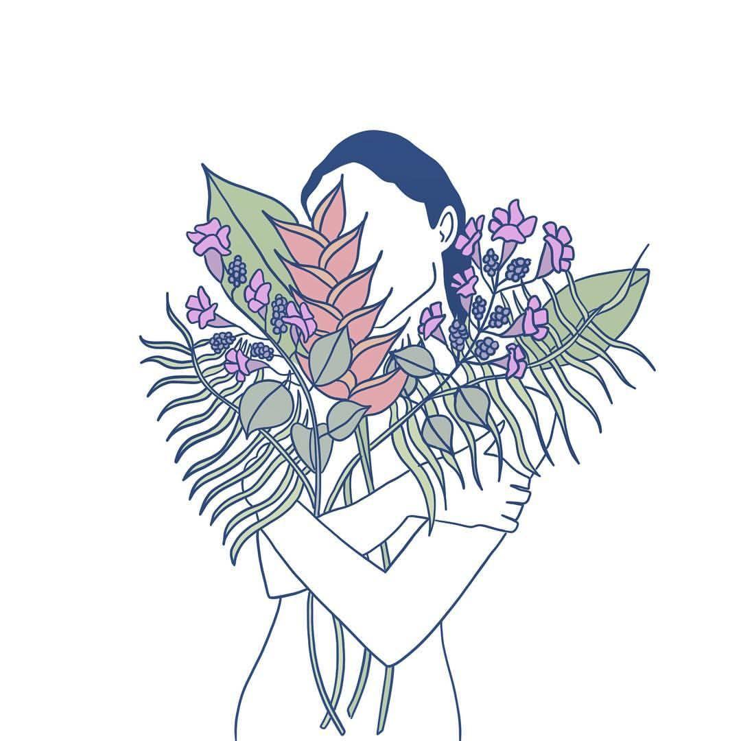 Siempre Hay Flores En El Mundo Para Quien Lleva Un Jardin En El Alma Drawing Digitalart Digitaldrawing Digita Art Painting Digital Art