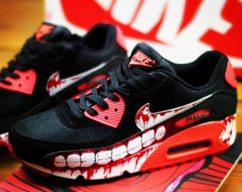 Custom Hand painted shoes Nike Air Max painted Zombies