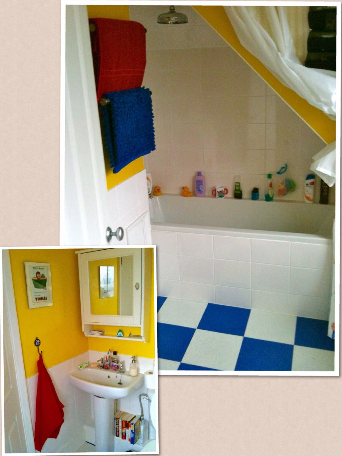 Primary Colours Red Blue Yellow Bathroom Yellow Bathroom Decor Yellow Bathroom Walls Yellow Bathroom Tiles