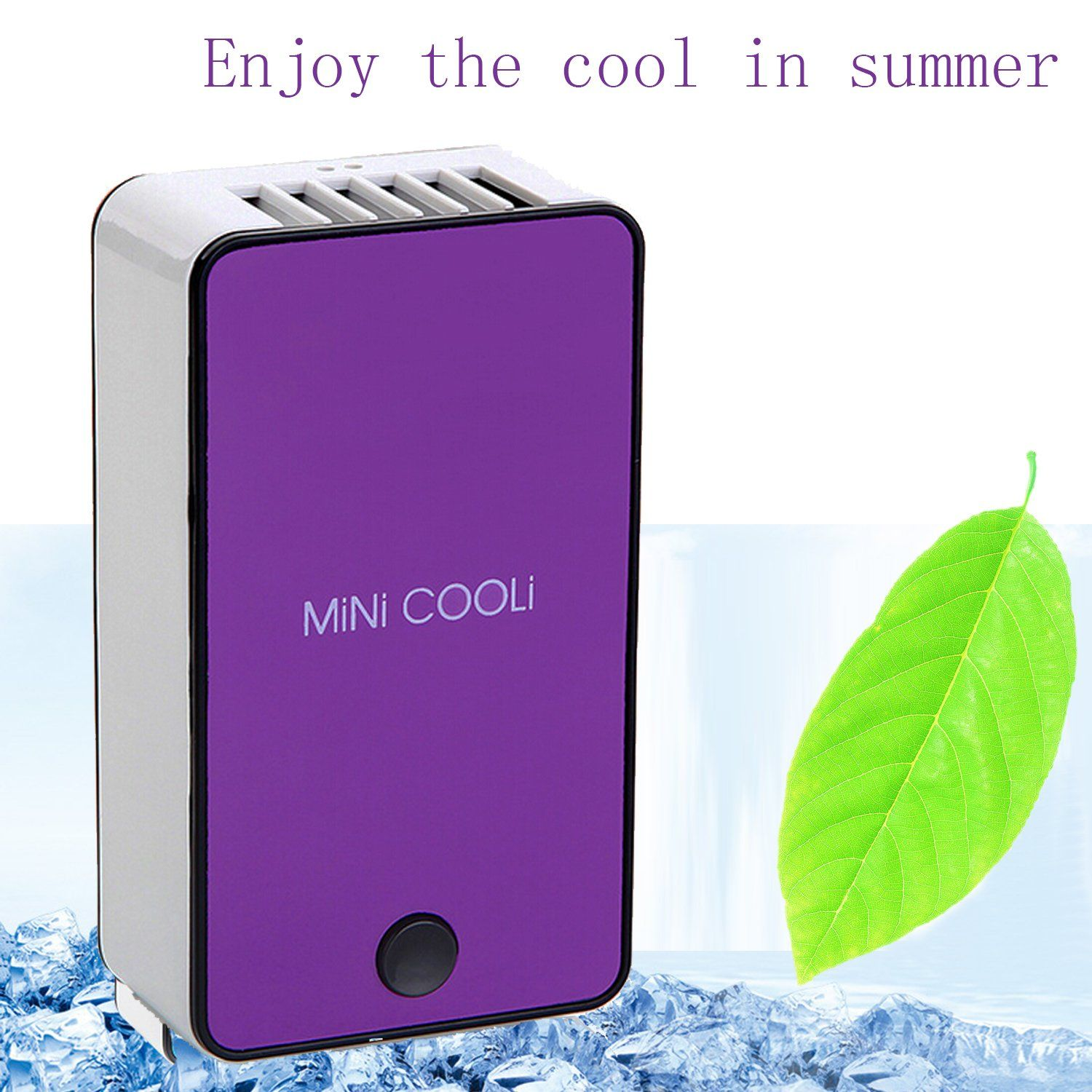 Portable Mini Bladeless Cool Fan USB Rechargeable Air