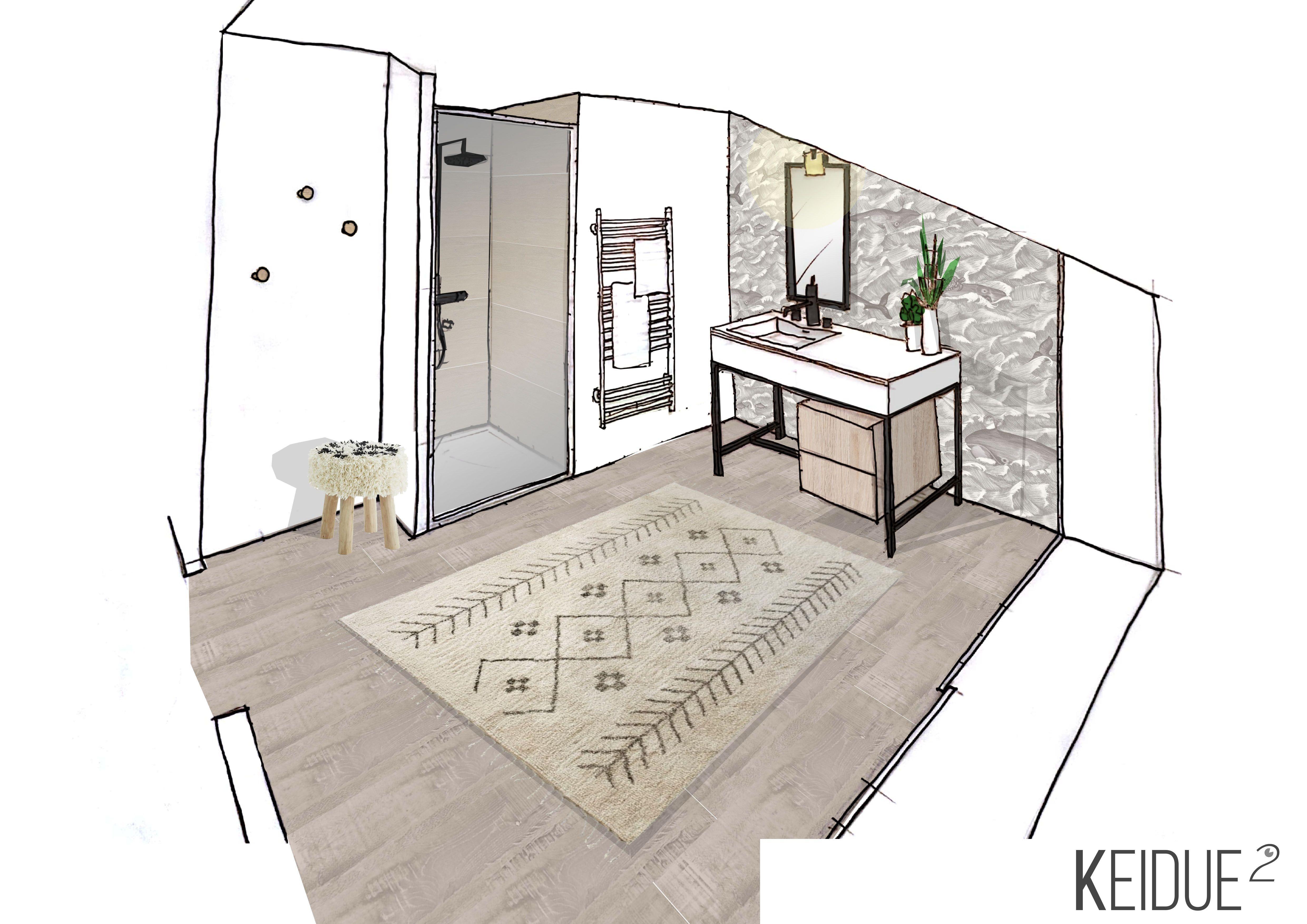 CROQUIS SALLE DE BAINS Agence Keidue² www.keidueagence.com ...