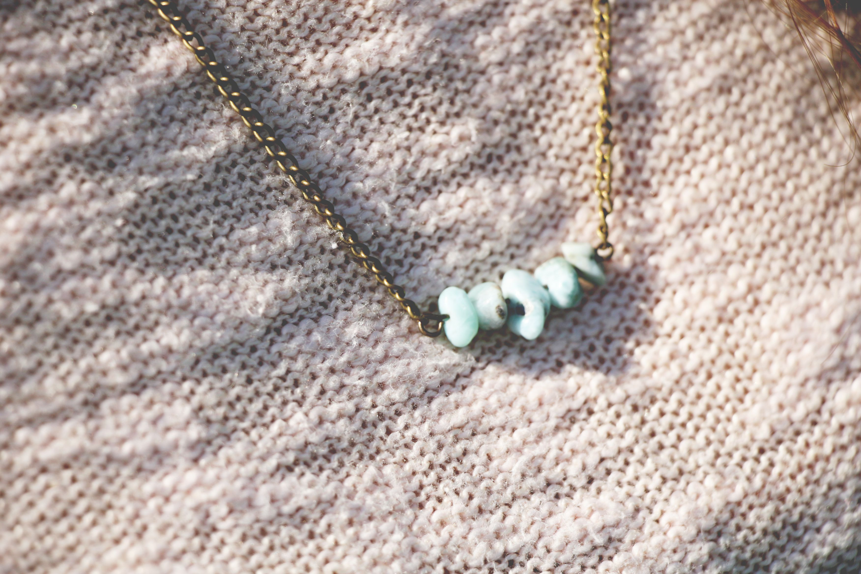 Turquoise Beaded Antiqued Brass Finish Necklace $19.00 loomstruck.etsy.com  ♥ Pin Now, Look Later ♥ loomstruck.etsy.com