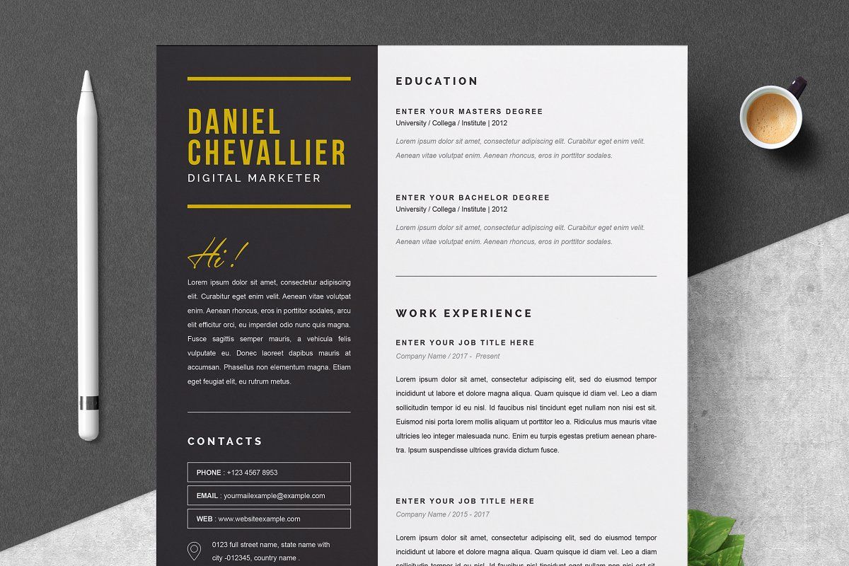 Professional Resume Template Professional resume, Resume