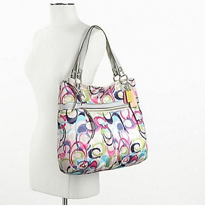 Coach style: #19876 Poppy Ikat Glam Tote ($198.00)