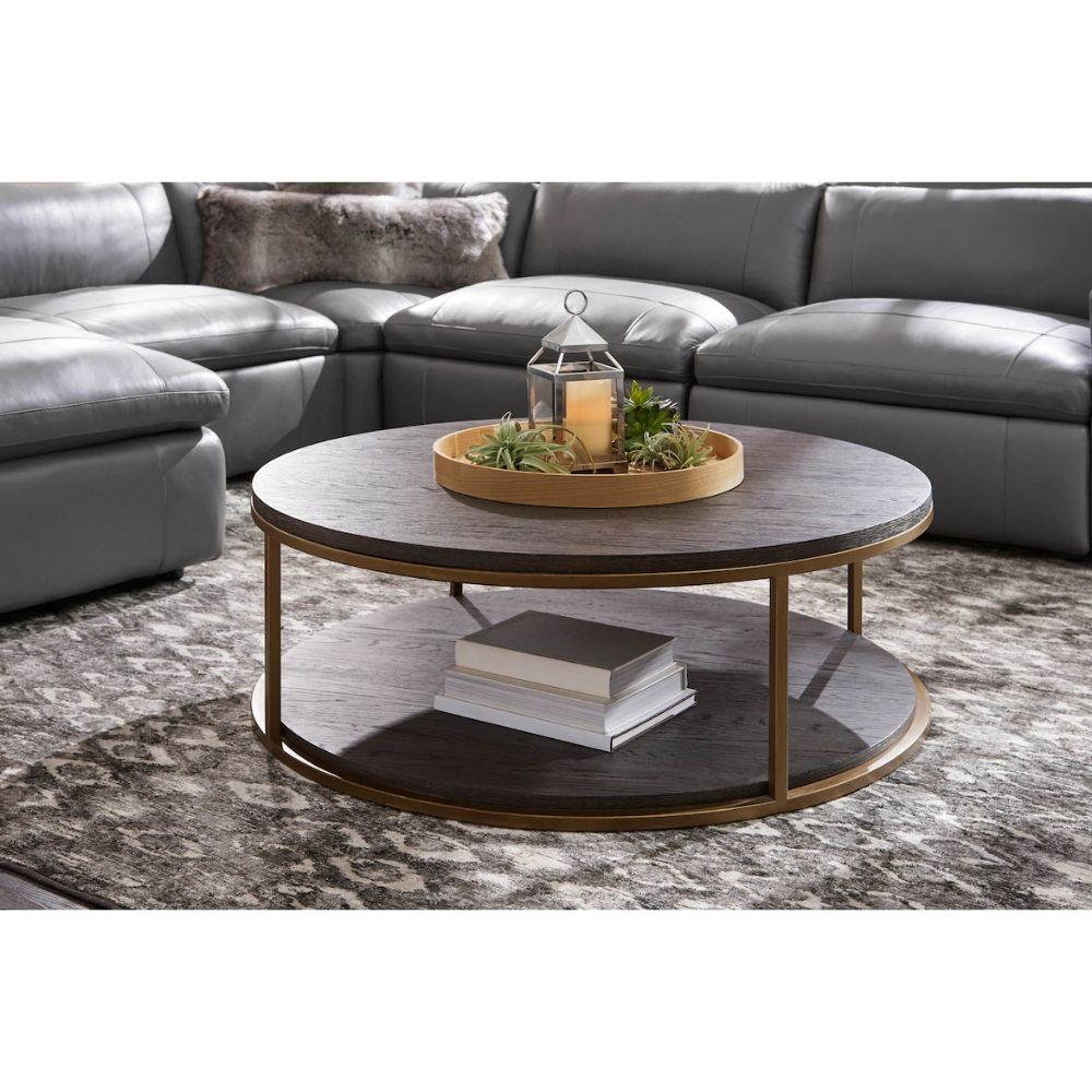 Malibu Round Metal Coffee Table Umber Value City Furniture And Mattresses Coffee Table Round Metal Coffee Table Furniture [ 1000 x 1000 Pixel ]