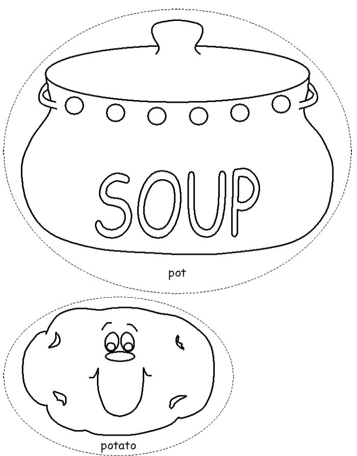 Potato Soup Coloring Page | Alimentação | Pinterest | Patterns and Craft