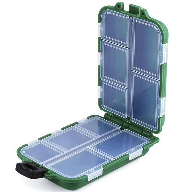 10Fishing Lure Compartments Storage Case Box Plastic Fish Lure Bait Tackle Bo/_DM