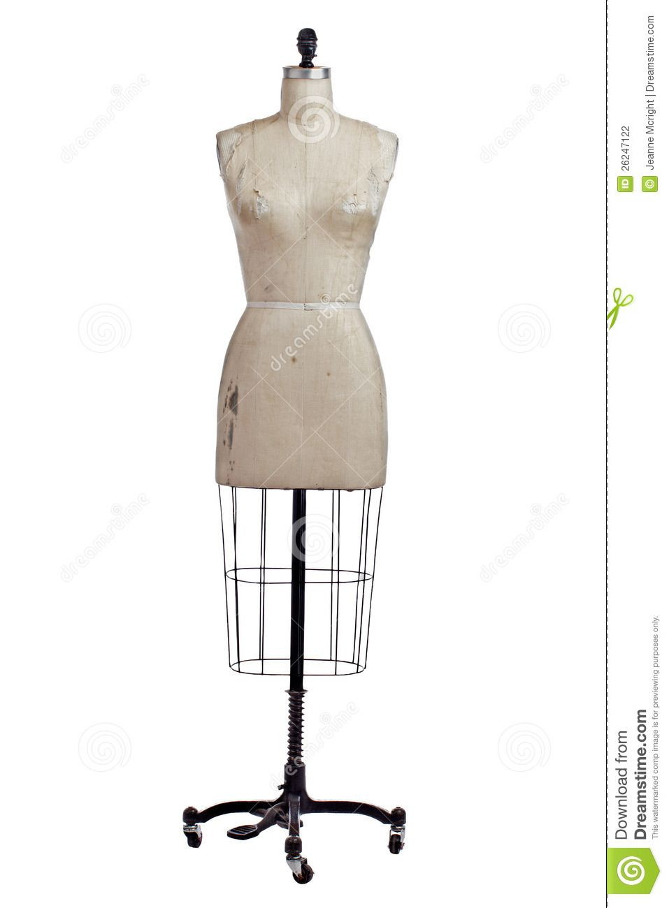 antique dress forms | Antique Wire And Linen Dress Form On Stand ...