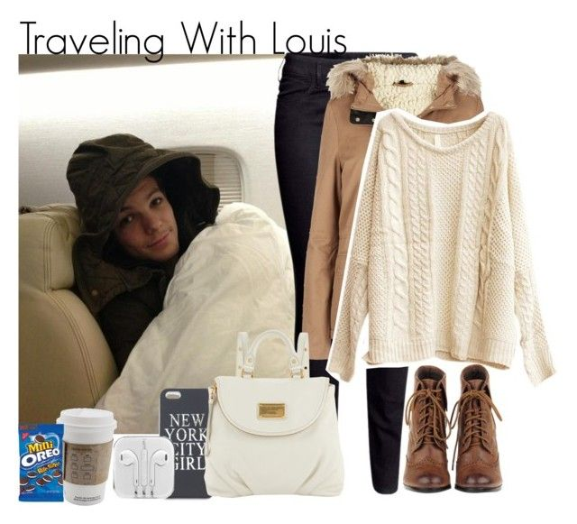 """""""#Traveling With Louis"""" by shefi-22 ❤ liked on Polyvore featuring H&M, Topshop, Brandy Melville and Marc by Marc Jacobs"""