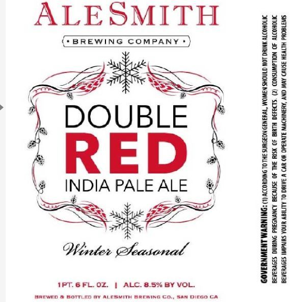 TABC Label and Brewery Approvals February 12 2016- alesmith double red ipa
