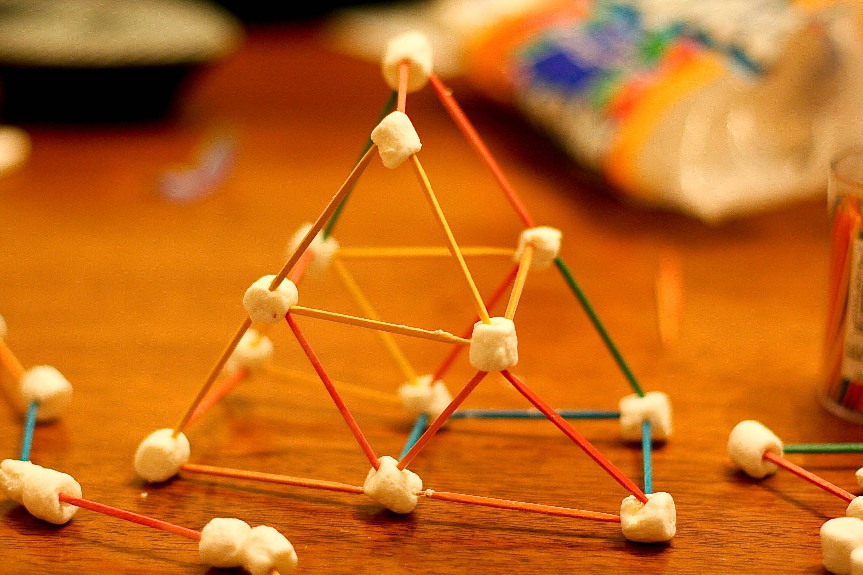 Building Toothpick And Marshmallow Structures While