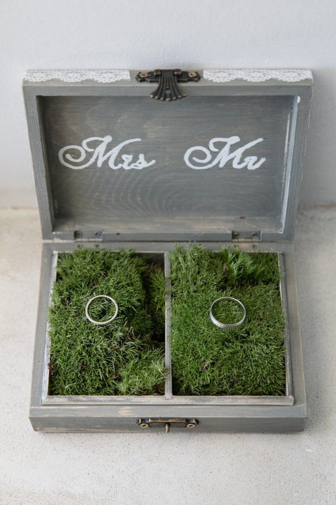 Boite alliances vintage mr ms alliance mariage boite for Fausse herbe deco