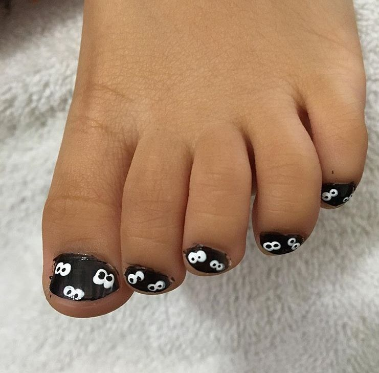 Toddler Nail Art For Arlynn By Mmmy Spooky Eyes Nail Art For