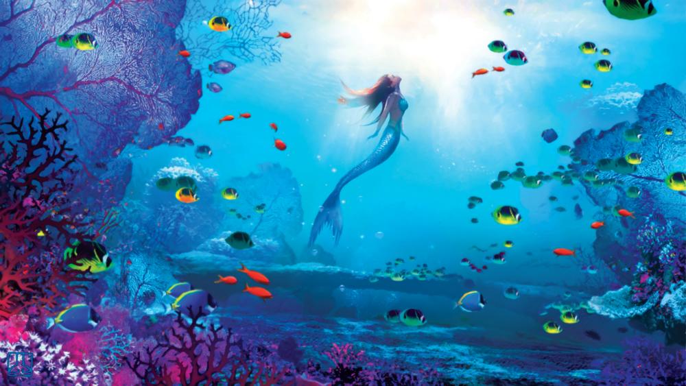 Under The Sea V2 Png Mermaid Wallpaper Backgrounds Mermaid Wallpapers Little Mermaid Wallpaper