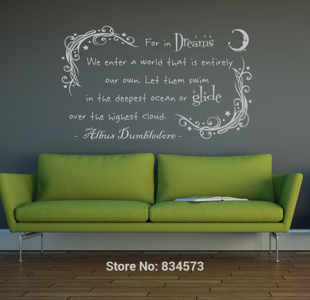 Dumbledore In Dream Harry Potter Wall Art Sticker Decal Home DIY Decoration  Decor Wall Mural Removable