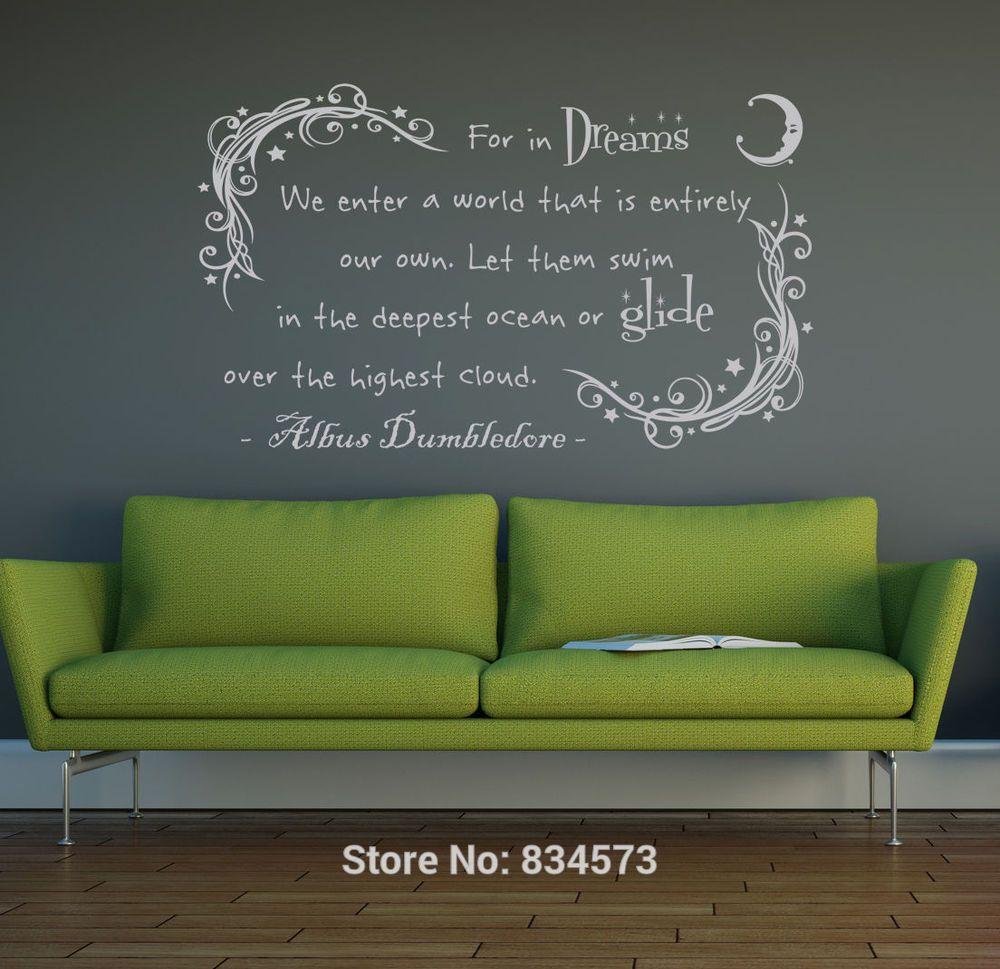 dumbledore in dream harry potter wall art sticker decal home diy