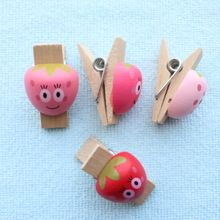 Set of 4 3D Photo Clothespins Banner Clips Pegs Mushroom Apple Frog Strawberry for Party Event Wedding Decoration Baby Shower(China (Mainland))