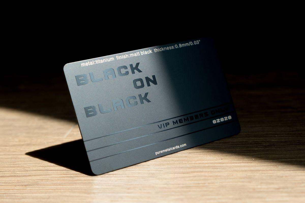 Matt Black Titanium Cards Pure Metal Cards Plastic Business Cards Business Card Dimensions Metal Business Cards