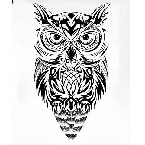 Resultado De Imagen Para Buho Tatto Tribal Tatuagem Tatoo Arte Em Pintura