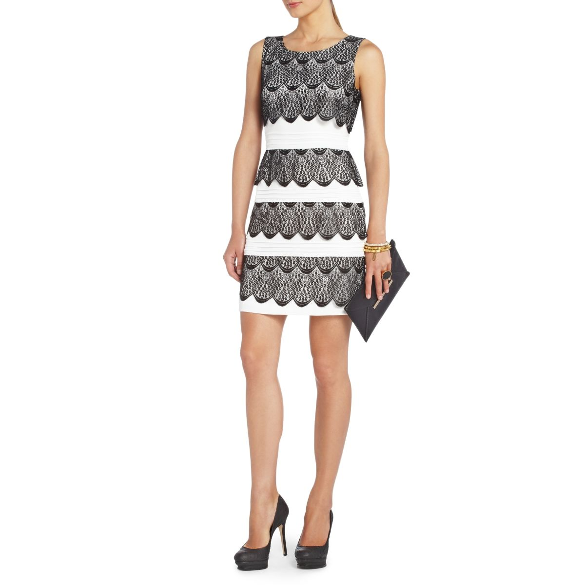 Saw this dress in Lord & Taylor today - LOVE IT. Black and white is ...