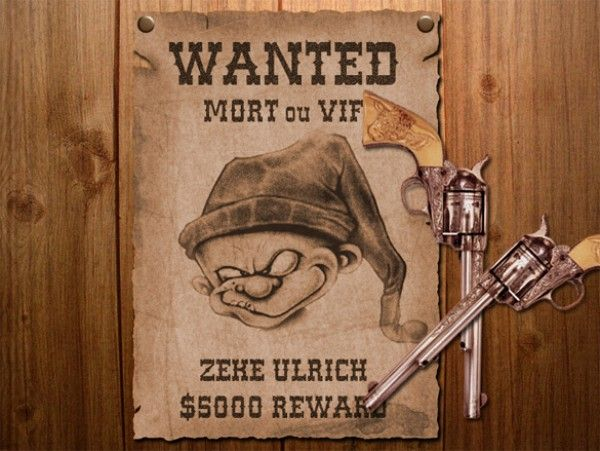Awesome WANTED Poster with Pistols Freebie Download WANTED Poster - create a wanted poster free