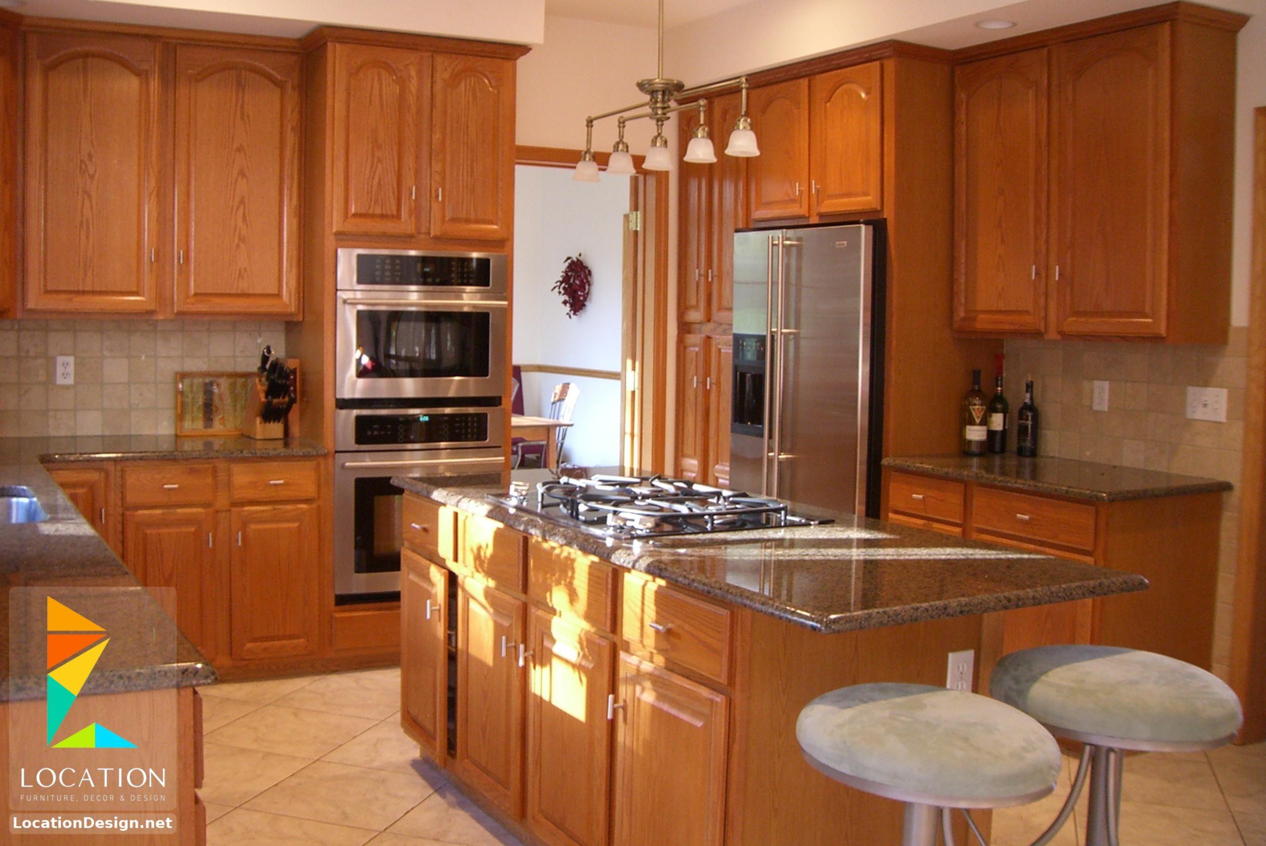 مطابخ خشب صغيرة 2018 2019 لوكشين ديزين نت Small Kitchen Layouts Traditional Kitchen Design Interior Design Kitchen