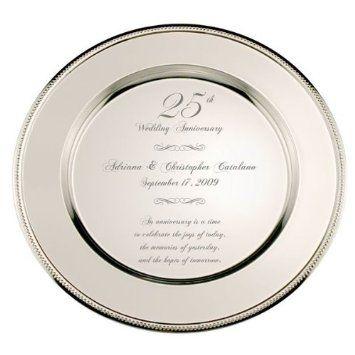personalized 25th wedding anniversary plate wedding anniversary
