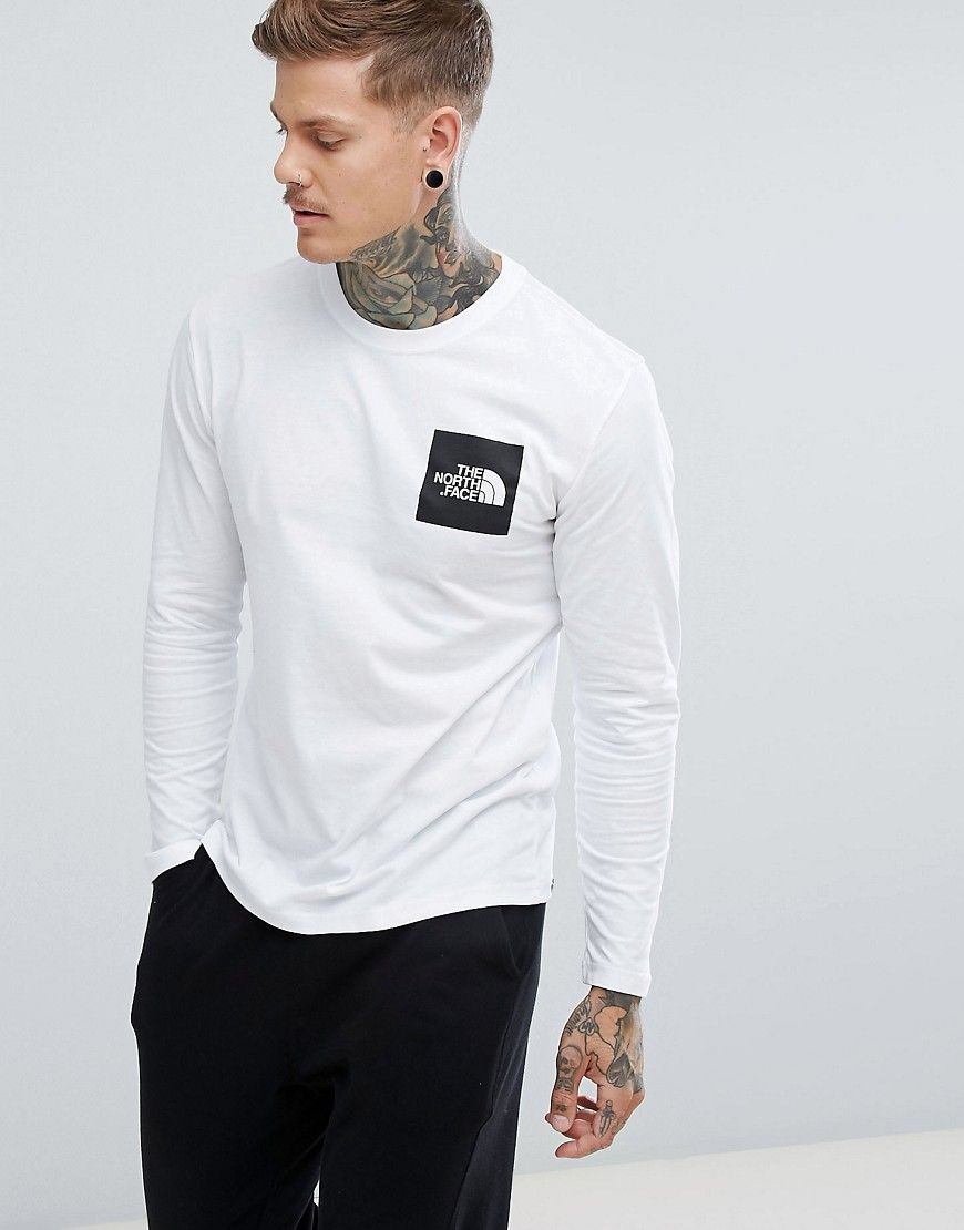 98e38a843 The North Face Fine Long Sleeve Top Box Logo in White in 2019 ...