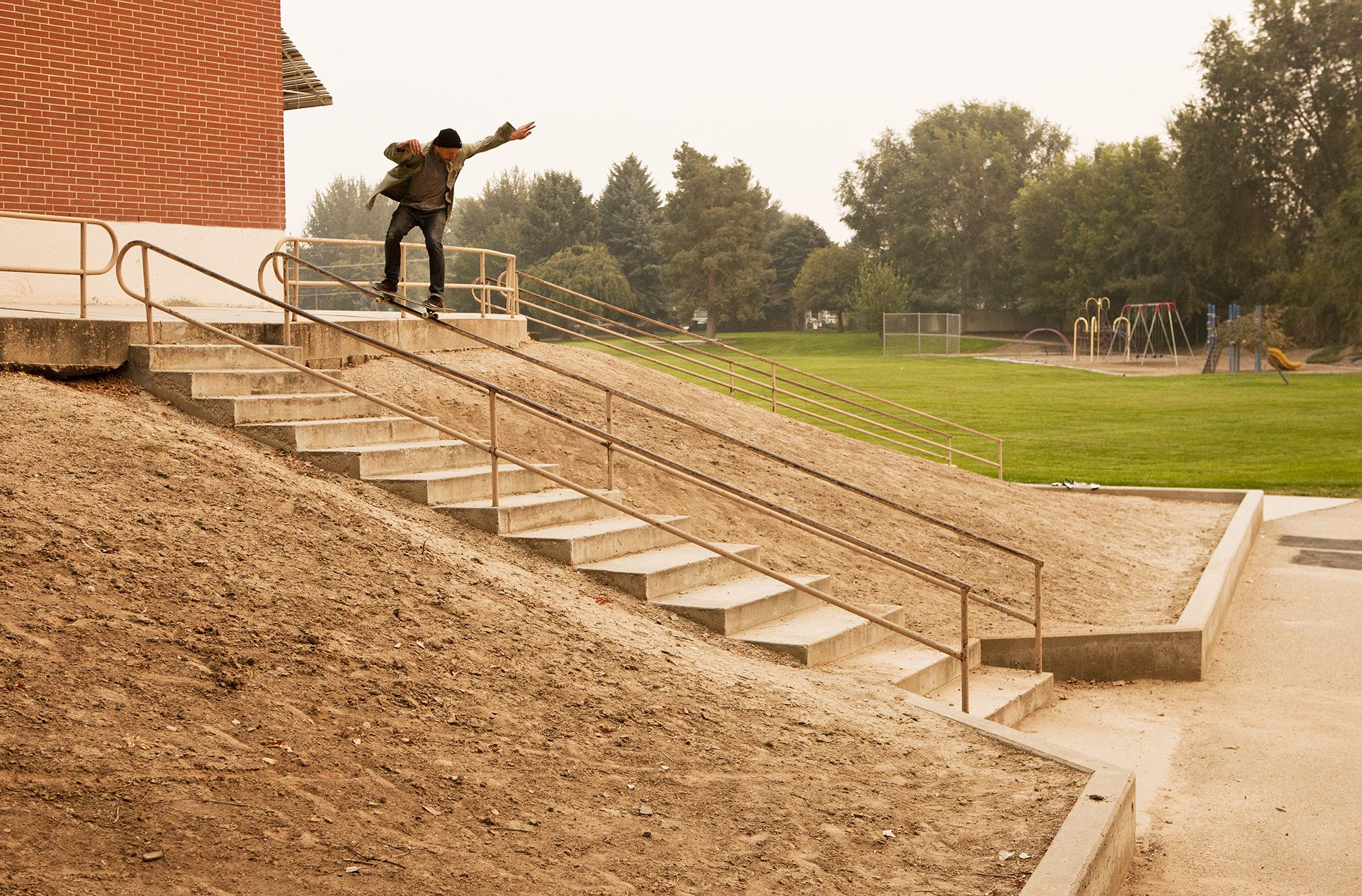 Jamie Thomas back 50 in Boise, Idaho. Fallen's Road Less Traveled Documentary is coming soon. To check out more visit, www.fallenfootwear.com