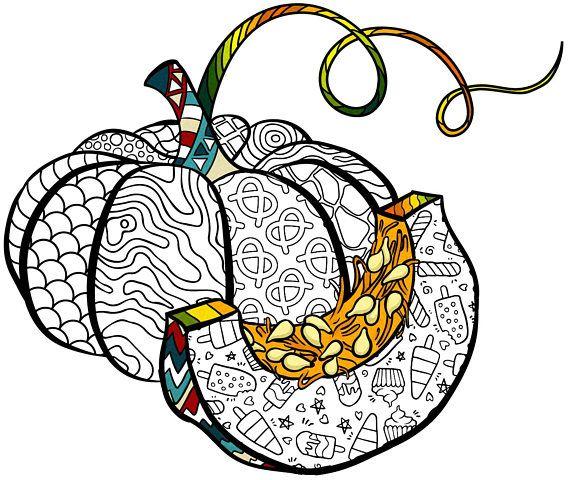 Pumpkin PDF Zentagle, Coloring, Coloring page, Adult coloring page ...
