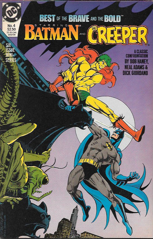 classic stories, featuring Batman and the Creeper by Bob Haney, Neal Adams and Dick Giordano (from B&B #80), The Viking Prince featuring art by Joe Kubert, Robin Hood featuring art by Russ Heath (both