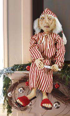 Ebenezer Scrooge Doll | Soft Sculpture Christmas Doll | Charles Dickens Christmas Carol | Christmas Shelf Sitter | Christmas Mantel Sitter