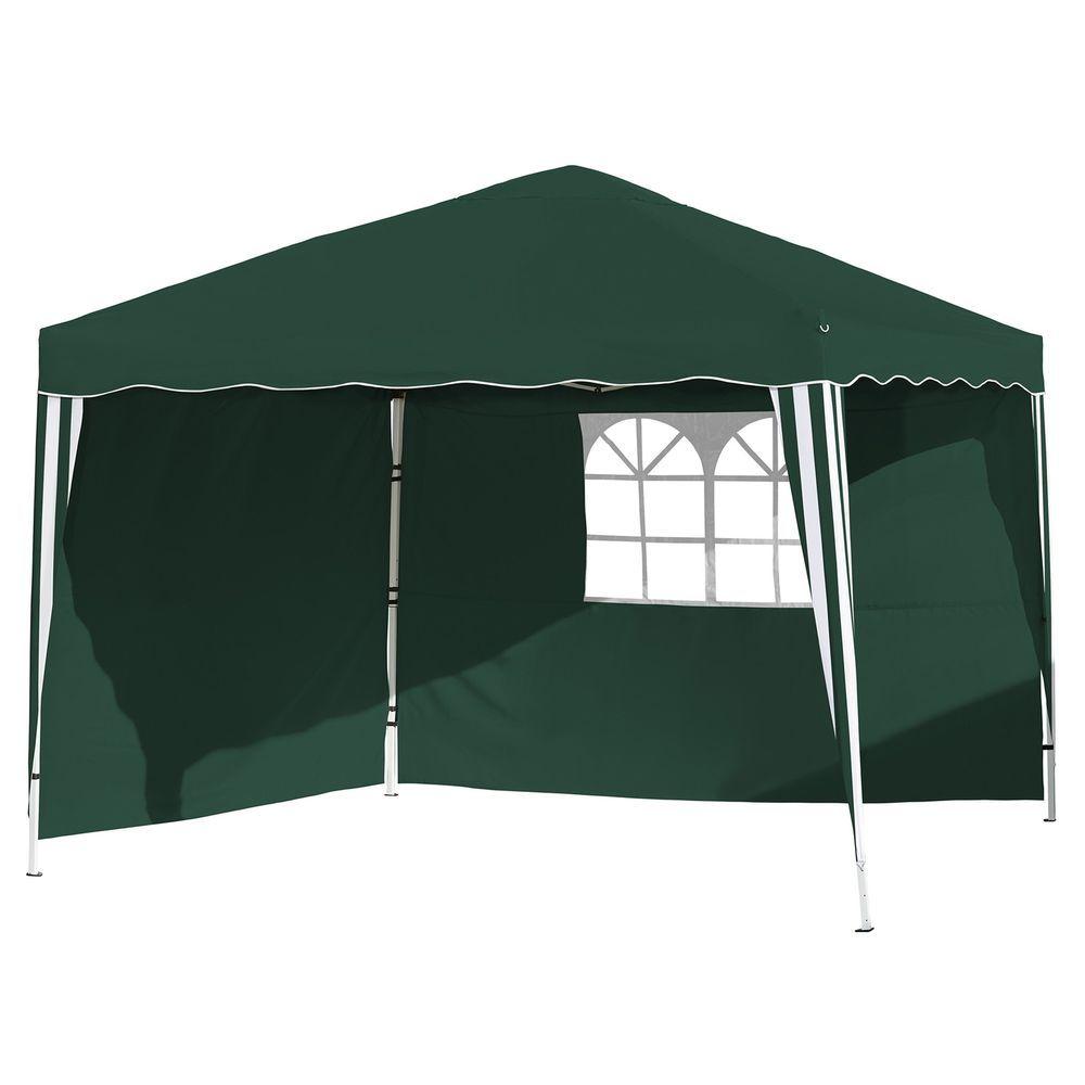 Foldable Pop-up Gazebo Waterproof Garden Wedding Marquee Canopy 4 Sides Walls UK