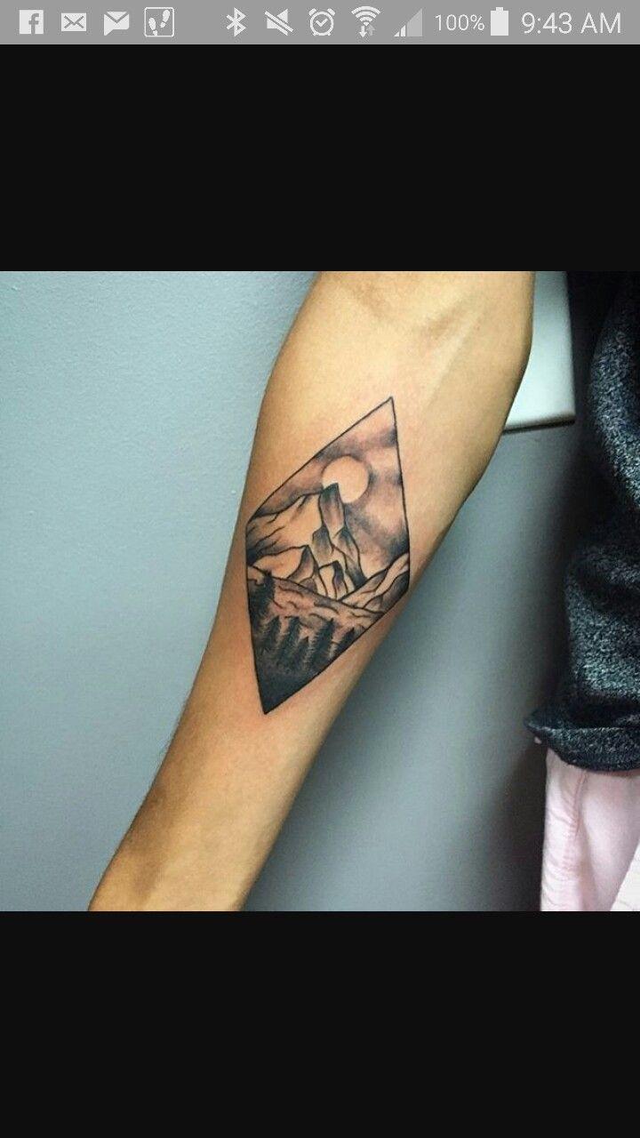 Cool Mountain Tattoo Tatted Up Glyph Tattoo Mountain Tattoo