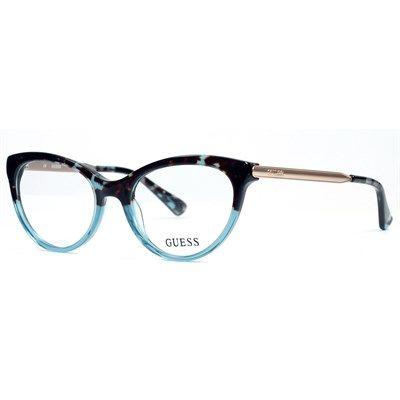 Oculos De Grau Guess Acetato Azul Havana Gu2462bl Oculos De