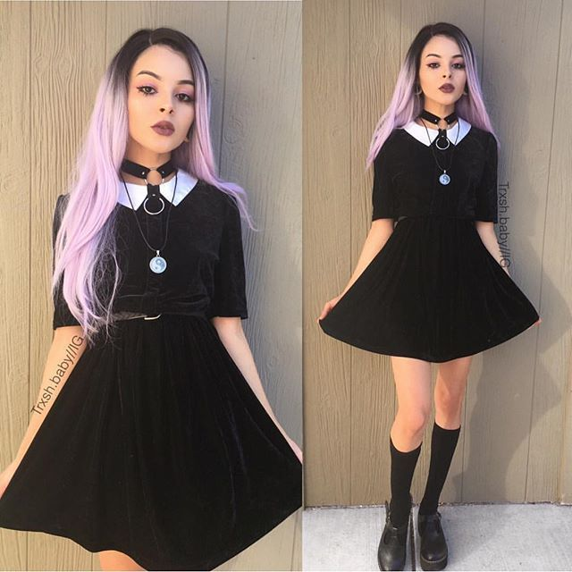 Wednesday addams dress tumblr color