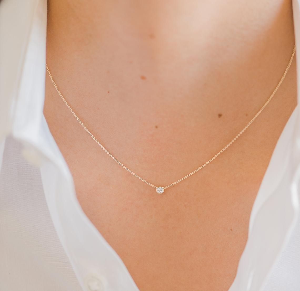 joyas alambre halsreif sin piedra plata 925 Nailon invisibles cadena collar o
