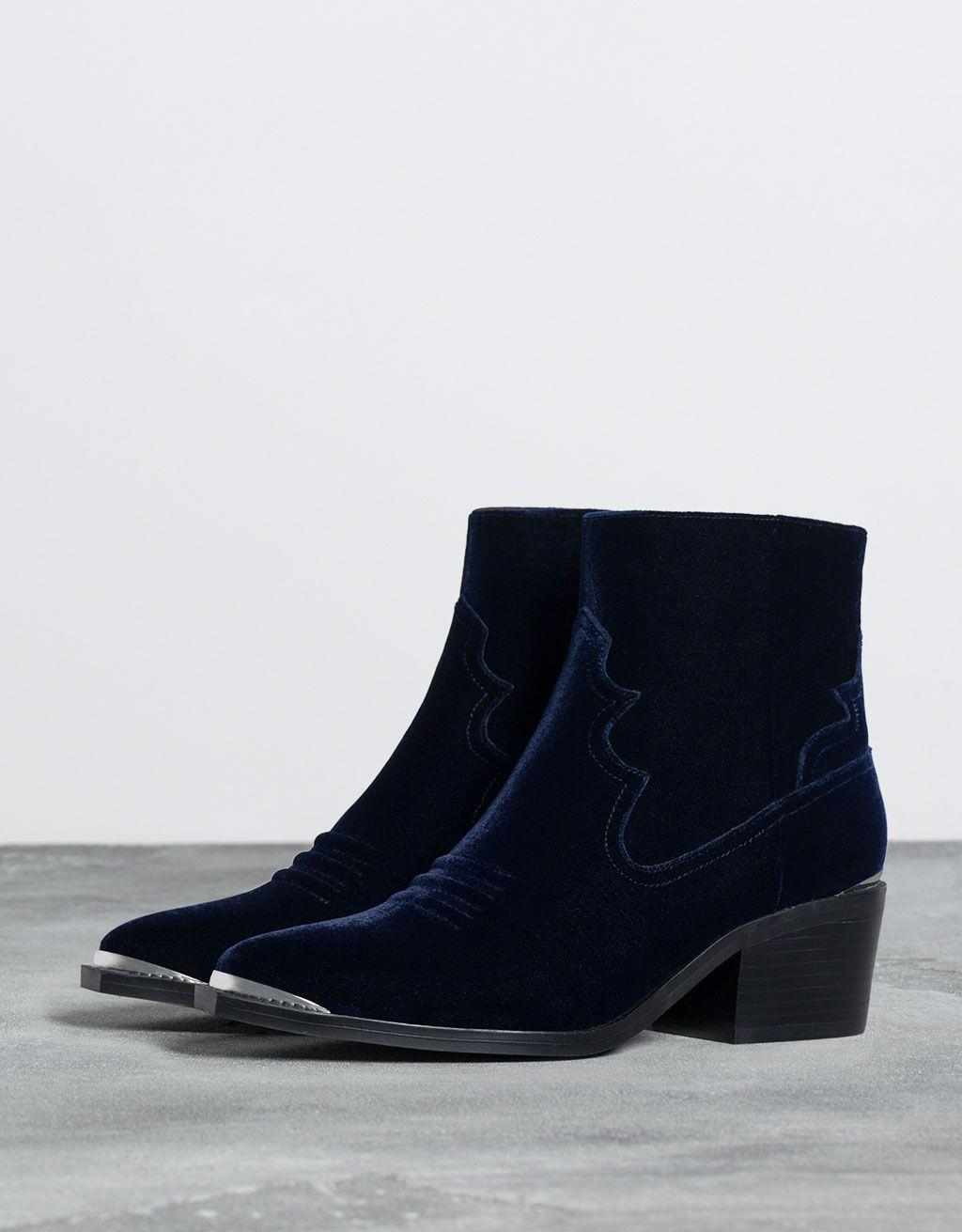 Bershka velvet ankle boot - Boots   Ankle boots - Bershka Ukraine ... 495095873fd2