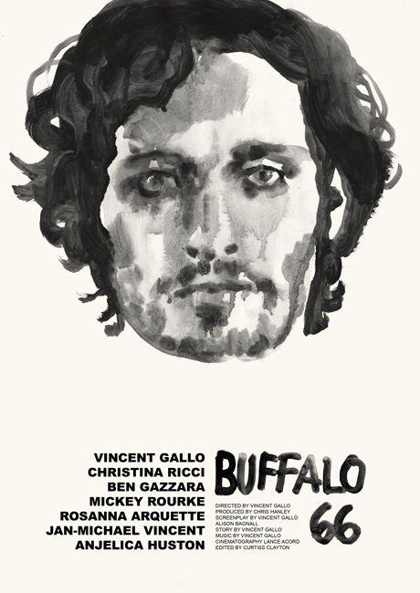 Tony Stella's poster for Vincent Gallo's Buffalo '66 (1998).