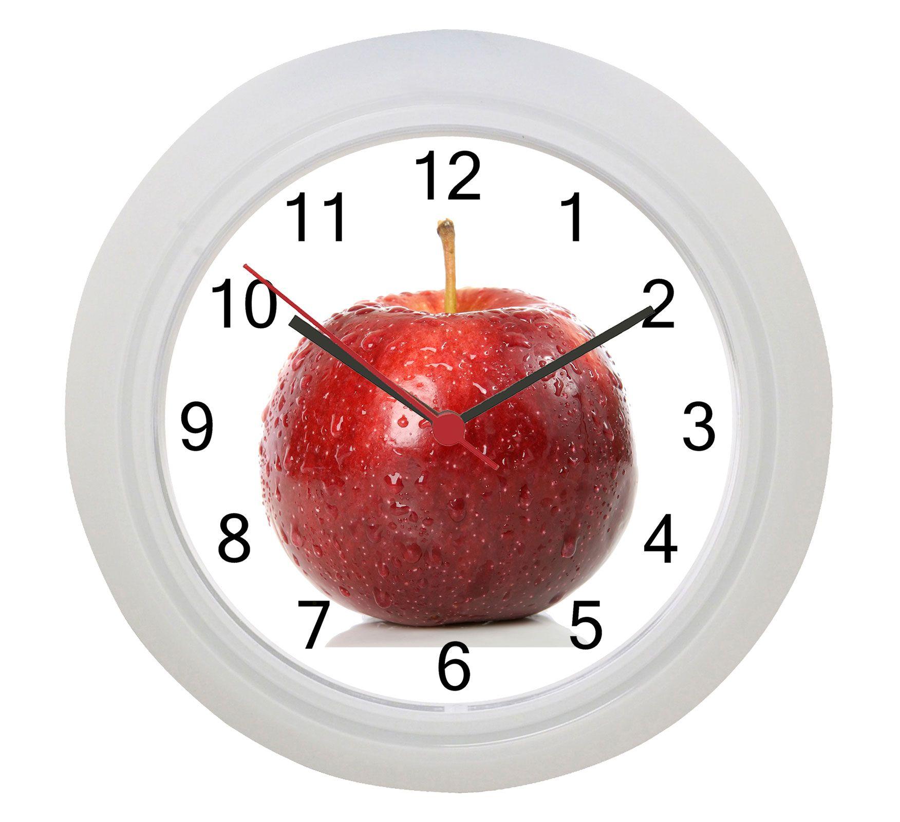 Red Apple Wall Clock Wall Clocks Clocks And White Wall Clocks