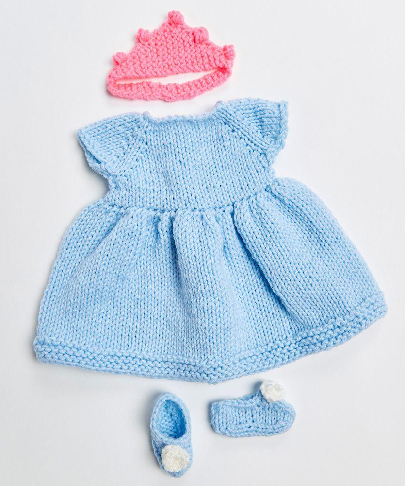 Royal Princess Doll Outfit Free Knitting Pattern 18 Inch Doll | 18 ...