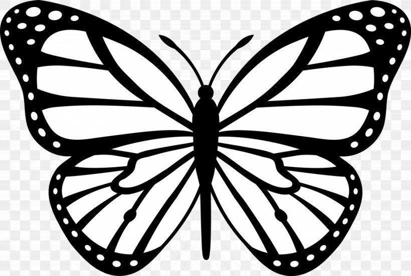Cartoon Monarch Butterfly Monarch Butterfly Outline Clip Art Png Butterfly Crafts A Butterfly Clip Art Butterfly Stencil Butterfly Coloring Page