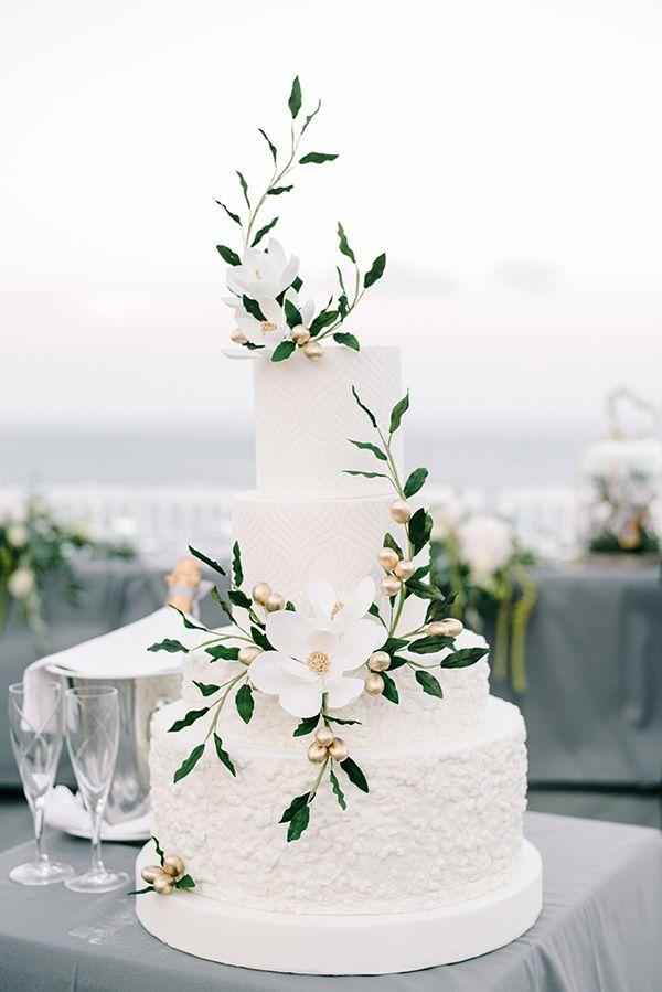Elegant Modern Wedding In Zakynthos Wedding Desserts Pinterest