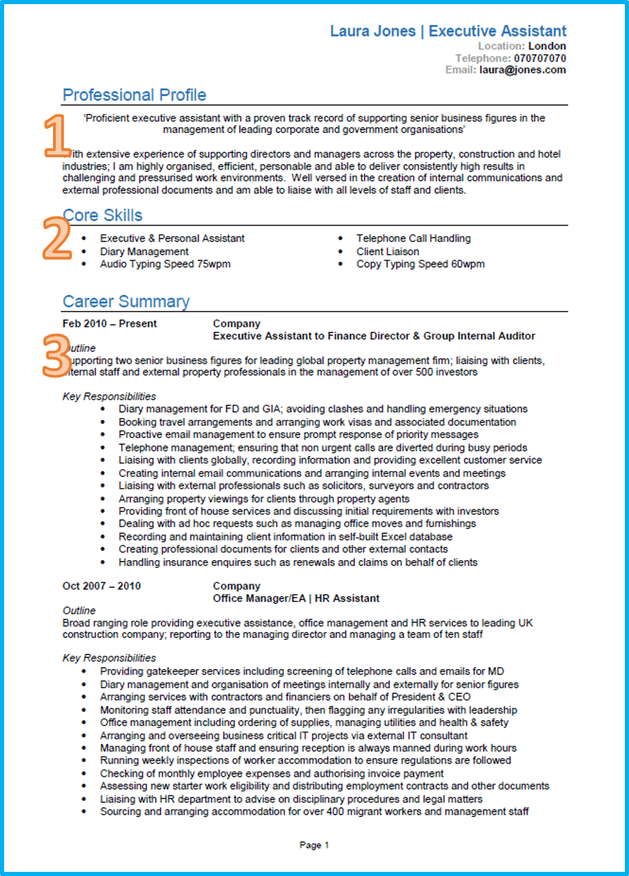 A Professional Cv Template Cvtemplate Professional Template Good Cv Good Resume Examples Cv Examples