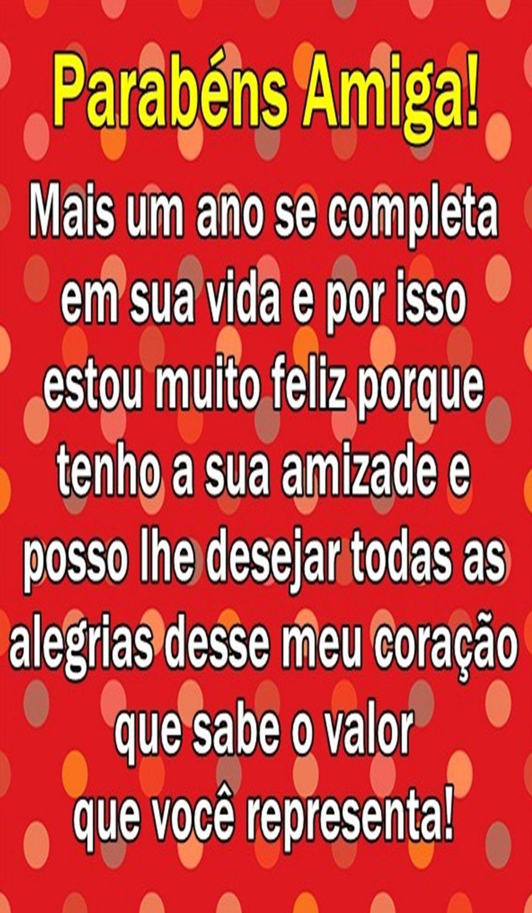 Pin de Nina Alves em Aniversário e dia das mães | Mensagem de feliz  aniversário, Mensagem aniversário amiga, Parabens amiga