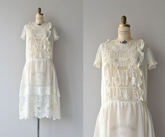 First Verses dress 1920s wedding dress cotton by DearGolden ...