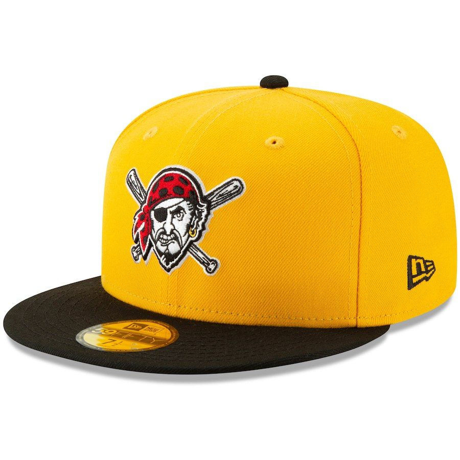 Men s Pittsburgh Pirates New Era Gold Alternate Logo 59FIFTY Fitted ... a7acfa7dcb54