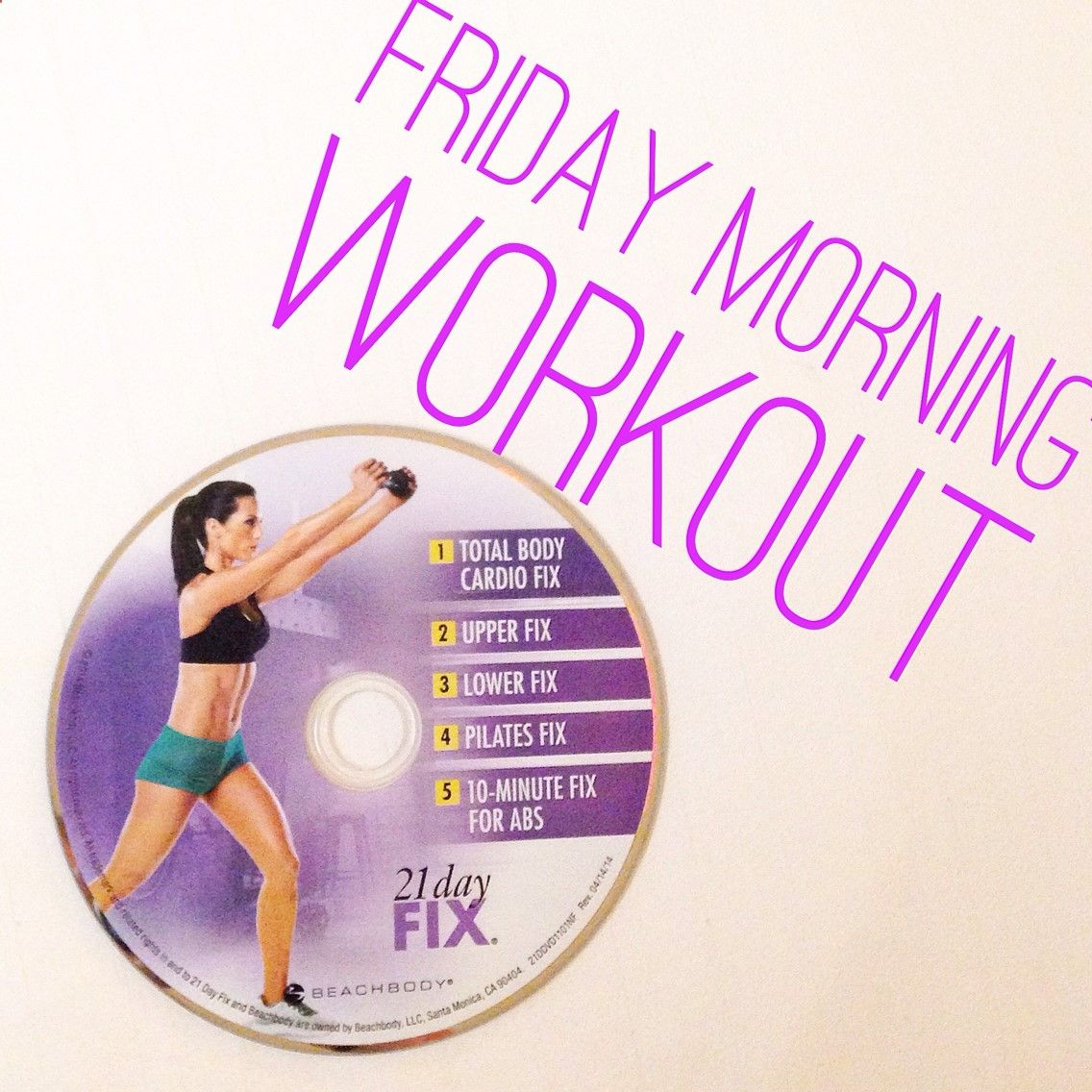 Happy friday friends this morning was a day fix cardio kind of