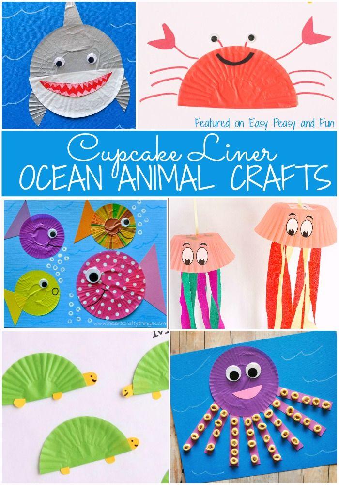 Ocean Animal Cupcake Liner Crafts Ocean Animal Crafts Animal
