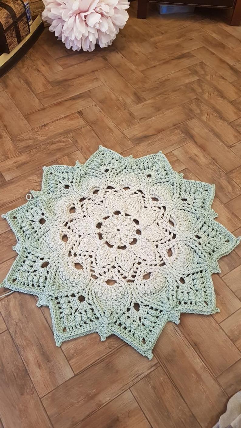 Video Tutorial Crocheting Rug Adonis Text Description In Etsy In 2020 Crochet Rug Patterns Rag Rug Tutorial Crochet Thread Projects